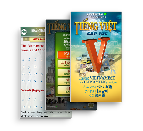 iVietnamese - Learning Vietnamese App - supports 5 languages including English, French, Chinese, Japanese and Korean, basic introduction to Vietnamese's vowels
